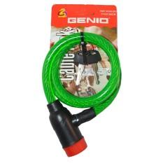 Genio Bike Lock / Kunci Spiral Sepeda - Hijau