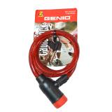 Toko Genio Bike Lock Kunci Spiral Sepeda Merah Genio
