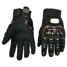 GETEK 2015 PRO-BIKER Sepeda Motor Balap Sepeda Serat Karbon Sarung Tangan Berbagai Ukuran M-XXL (hitam)