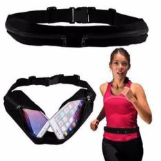 Go Belt Double Bag Sport Tas Sabuk Olah Raga Multifungsi Running Belt Waist Bag Twice Pouch Outdoor