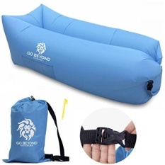 Go Beyond Outdoors Inflatable Lounger - Hangout Sofa With Carry Bag - Easy To Inflate with Wind - Use as Portable Air Hammock, Lazy Lounge Chair, or Blow Up Couch for Camping, Travel, Beach and Pool - intl