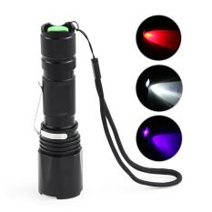 Jual Grandmise 500 Lumen Cree Q5 Uv Ultra Violet Zoomable 3 Memimpin Cahaya Lampu Obor Senter Fokus Murah