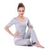Promo Grandwish Wanita 3 Buah Set Baju Olahraga Lengan Bang Pendek Atasan And Pants Capri And Rompi Pakaian Olahraga Set M 2Xl Abu Abu International Oem Terbaru