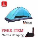 Harga Great Oudoor Monodome Pro 2 Orang Gt8187 Tenda Camping Kokoh Mountlines Asli