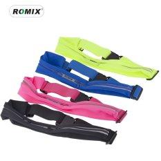 (Green)ROMIX RH06 Sports Running band waist bag trail running Waterproof Outdoor Adjustable Ultrathin Running Bags phone bag - intl
