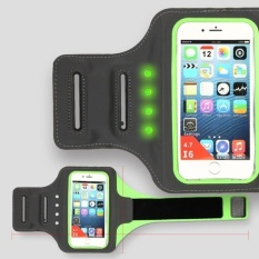 GX Coxixi Spor Updated Self-Generating Safety Led Cell Phonesportsrunningarmband For Phone (4.7 Inch) (Green)