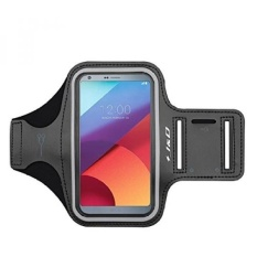 GX Lg G6/Lg G6 Plus Armband, J&Amp;D Spor Armband For Lg G6, Lg G6 Plus, Key Holder Slot, Perfect Earphone Connection While Workout Running - Black