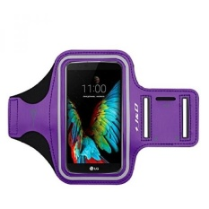 GX Lg K10 Armband, J&Amp;D Spor Armband For Lg K10, Key Holder Slot, Perfect Earphone Connection While Workout Running Armband For Lg K10 (Purple)