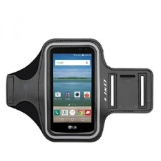 GX Lg Optimus Zone 3 Armband, J&Amp;D Spor Armband For Optimus Zone 3, Key Holder Slot, Perfect Earphone Connection While Workout Running - Black