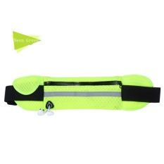 GX Outdoor Sport Running Adjustable Waist Belt Nylon Sport Packs Formusic With Headset Hole-Fi Smartphones Gym Bags Neon Green