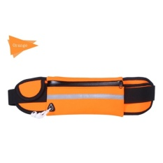 GX Outdoor Unisex Sport Running Waist Bags Nylon Sport Packs For Musicwith Headset Hole-Fi Smartphones Gym Bags Orange