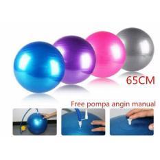 Gym Ball Bola Fitness 65cm FREE POMPA Baik Untuk Ibu Hamil Serta Pilates Dan Olahraga Senam Yoga Exercise Art