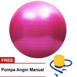 Promo Gymastic Ball Free Pompa Olahraga Senam Yoga Exercise Art Jadi Seru Warna Random Akhir Tahun