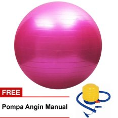 Review Gymastic Ball Free Pompa Olahraga Senam Yoga Exercise Art Jadi Seru Warna Random