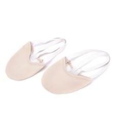 Setengah PU Kulit Tunggal Balet Pointe Sepatu Tari Senam Rhythmic Sandal Kaki Warna Kulit Ukuran S-Internasional