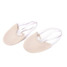 Setengah PU Kulit Satu-satunya Balet Sepatu Tari Pointe Senam Rhythmic Sandal Kulit Kaki Warna Ukuran S-Intl