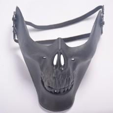Halloween Masquerade Pesta Cosplay Mewah Chieftain Tengkorak Setengah Topeng Wajah untuk Wanita Dewasa dan Pria-