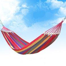 Daftar Harga Hammock Cotton Fabric Travel Camping Hammock 2 Orang 450Lbs Untuk Tempat Tidur Hammock Tempat Tidur Kamar Tidur Outdoor Indoor Oem