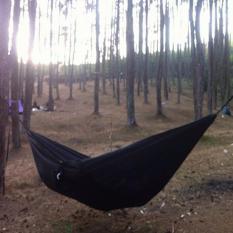 Spek Hammock Single Tempat Tidur Gantung Hitam Lokal Brand