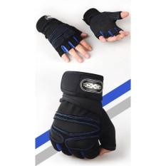 Hang-qiao Angkat Berat Sarung Tangan Olahraga Latihan Gym Gloves-Intl