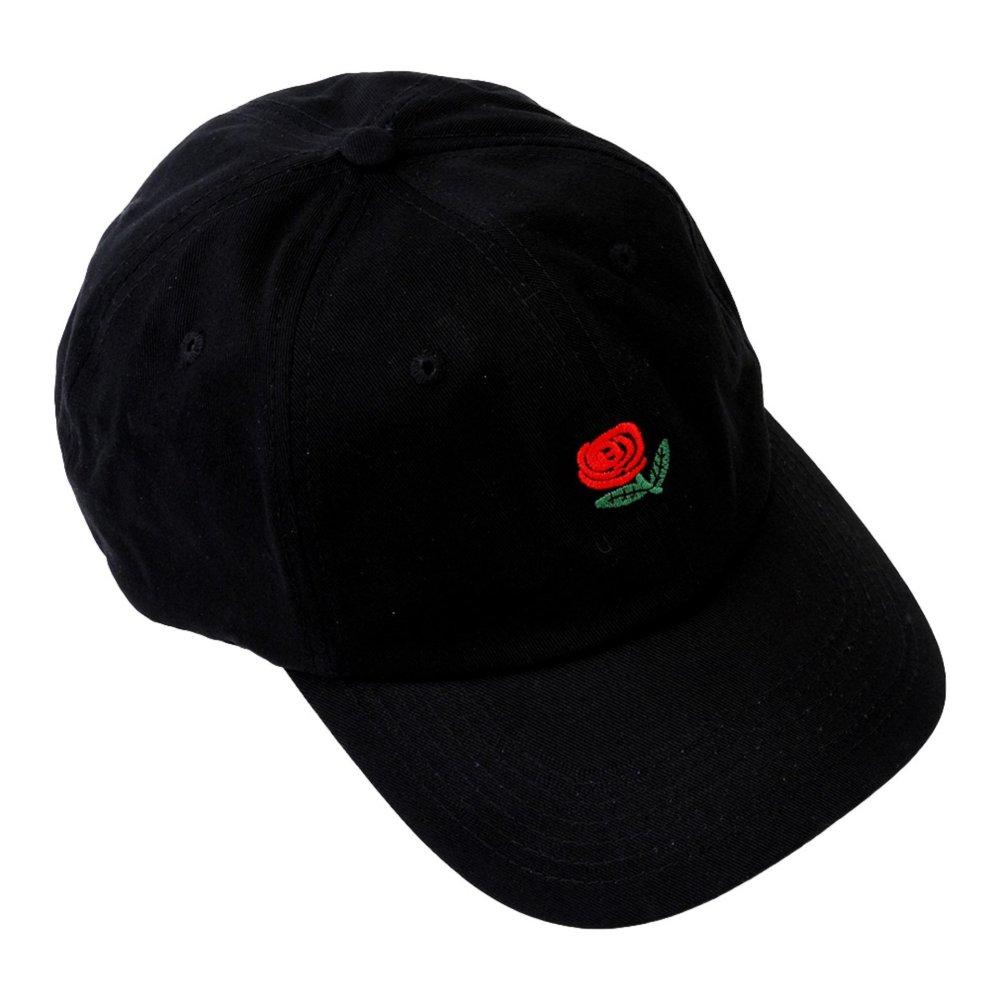 Pencari Harga Kolam Unisex Rose Bordir Adjustable Strapback Ayah Topi  Snapback Topi Baseball (Black) 757f05dc23