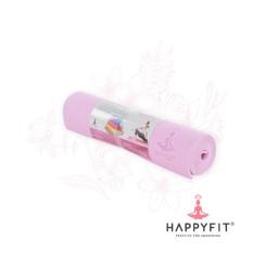 Jual Happyfit Pvc Yoga Mat Termurah Gratis Tas Matras Yoga 8Mm Soft Pink Free Bag Online Indonesia