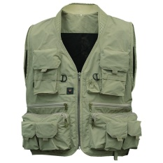 Hhhappy Mens Multifungsi Handbag Travel Olahraga Fishing Vest Rompi Outdoor L Hijau-Intl By Hhhappy Store.