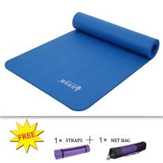 Beli Kualitas Tinggi Nbr Yoga Mat 15Mm Ekstra Tebal Non Slip Gratis Bersih Casing Strap Murah Tiongkok