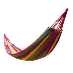 -Tinggi Kualitas Outdoor Hanging Hammock Rope Swing Canvassleeping Bed Garden untuk Berkemah Berburu (Merah)-Intl