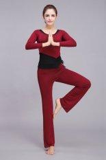 Spesifikasi Yoga Berkualitas Tinggi Pakaian Celana Lengan Panjang Rompi Yoga 3 Pieces Setelan Terbaru