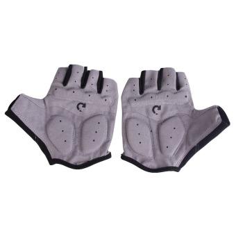Harga Penawaran HKS sepeda motor Sport Gel setengah jari sarung Gray ukuran S discount - Hanya