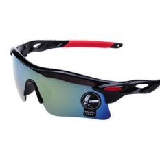Hossen Bersepeda Kacamata Olahraga Kacamata Hitam Sepeda Motor Sepeda Sepeda Berkuda Kacamata Olahraga dengan Angin UV Perlindungan 400 untuk Pria dan Wanita Spesifikasi: cerah Hitam (Emas dan Perak)-Internasional