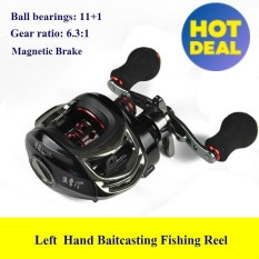 HOT 11+1BB Left Right Hand Baitcasting Fishing Reel 6.3:1 Bait Casting Carp Fishing Wheel With Magnetic Brake Carretilha Pesca X120 - intl