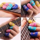 Jual Hot Baru Gitar Jari Pelindung Silicone Untuk Ukulele Warna Acak Intl Tiongkok
