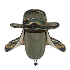 Hot Selling Unisex Outdoor Neck Protection Waterproof Sunshine Blocking Bush Hat Jungle Hat Sun Hat (Multi color) - intl