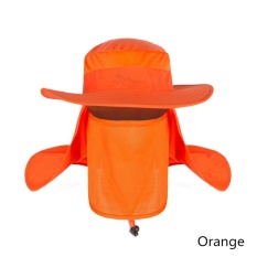 Hot Selling Unisex Outdoor Neck Protection Waterproof Sunshine Blocking Bush Hat Jungle Hat Sun Hat (Oranye)-Intl