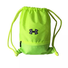 Tahan air panas tas serut/Ransel/Tas Olahraga/sepatu/Tas Bahu bag pria wanita olahraga biliar A4 tas Bola Basket Sepak Bola 8warnd tersedia Medium (ukuran M) hijau
