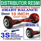 Ulasan Lengkap Tentang Hoverboard 10 Inch Terbaru Grade C Smart Balance 15 Km Hover Board Skuter Scooter