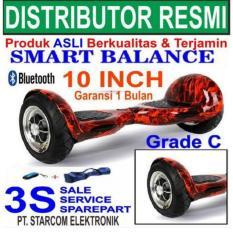 Toko Hoverboard 10 Inch Terbaru Grade C Smart Balance 15 Km Hover Board Skuter Scooter Terlengkap Banten