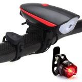 Jual Beli Huohu Lampu Sepeda Set Lampu Sepeda Dengan Horn 120 Db Dan Tail Light Ultra Kecerahan Dan Tahan Air Led Lampu Sepeda Mudah Dipasang Untuk Keselamatan Bersepeda Senter Intl Tiongkok