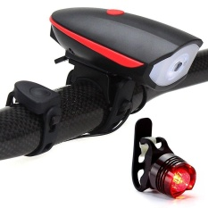 Jual Huohu Lampu Sepeda Set Lampu Sepeda Dengan Horn 120 Db Dan Tail Light Ultra Kecerahan Dan Tahan Air Led Lampu Sepeda Mudah Dipasang Untuk Keselamatan Bersepeda Senter Intl Louis Will Murah