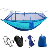 Huohu Camping Hammock Dengan Kelambu Pawaca 2 Orang Hammock Ringan Parasut Travel Bed 100 Kain Nilon Tahan Lama Dan Portabel Hammock Tenda Untuk Indoor Pantai Berkemah Hiking Outdoor Jungle Intl Original