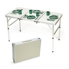 Inovasi Merek Dagang Portable Adjustable Aluminium Ringan Folding Table Oleh-Intl