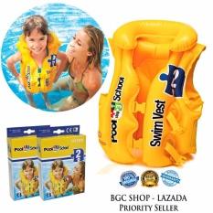 Jual Intex 58660 Swim Vest Sch**l Deluxe Rompi Pelampung Renang Anak Online