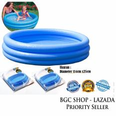 Beli Intex 59416 Crystal Blue Pool 3 Ring For Baby 141Cm X 25Cm Kolam Renang Anak Biru Online