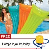 Diskon Intex 59703Np Kasur Air Matras Air Pelampung Kolam Renang Free Pompa Injak Bestway Intex