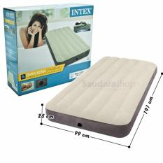 Toko Intex 64707 Twin Durabeam Deluxe Single High Airbed Kasur Angin Twin 191Cm X 99Cm Online Terpercaya