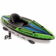 Intex Challenger K1 Kayak Set (pompa+dayung) Perahu Karet Single Dewasa 68305 By Sportsite.