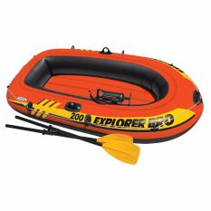 Intex Explorer Pro 200 Boat Set (pompa+dayung) Perahu Karet Untuk 2 Anak 58357 By Sportsite.