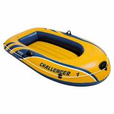 Intex Inflatable Challenger 1 Boat (kuning) Perahu Karet Single Dewasa 68365 By Sportsite.